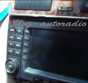 démontage autoradio Mercedes CLK W209