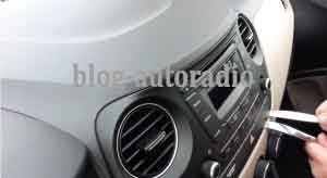 montage autoradio Hyundai I20
